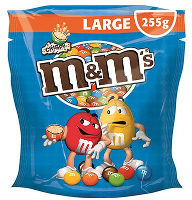 crispy m&m's Crispy Beutel 5er Pack (5 x 255 g) ab 9,95€  & M&Ms Choco & M&Ms Peanaut ab 10,58€