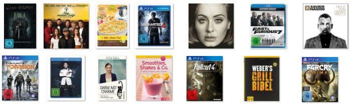 Bis zu 15€ Rabatt auf gebrauchte DVDs & Blu rays oder Games bei Medimops