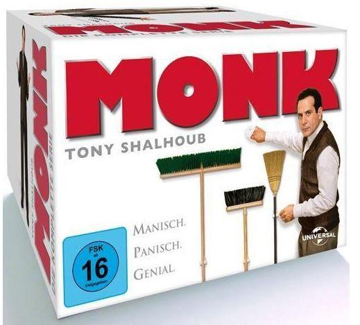 Monk Monk   Die komplette Serie   auf 32 DVDs statt 46€ für 30,97€