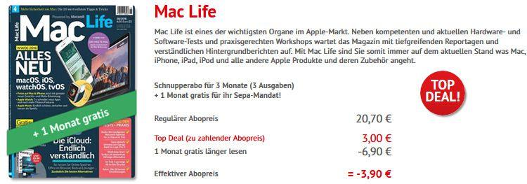 mac life abo Mini Abo: 4 Ausgaben Mac Life im Wert von 27,60€ mit 3,90€ Gewinn!