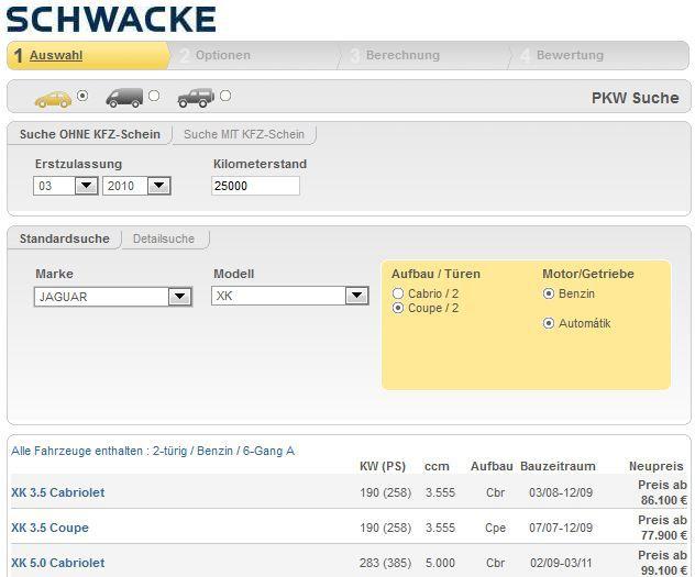 mein deal446 [Kostenlos] Update! Online: Gebrauchtwagenbewertung bei Schwacke Gratis