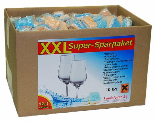 10kg Spülmaschinentabs 12 in 1 (ca. 500 Stück, Bruchware) für 16,40€