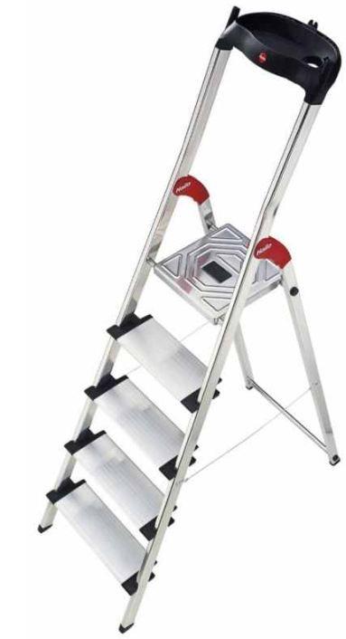 Hailo Aluminium Profistep XXL   Sicherheitsleiter mit 5 Stufen für 50€ (statt 70€)