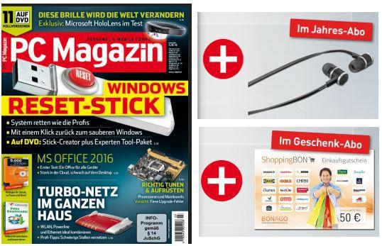 PC Magazin kostenlos PC Magazin 13 Ausgaben inkl. Beyerdynamic DX 160 iE Premium In Ear Kopfhörer im Wert von 98€ für nur 64,80€