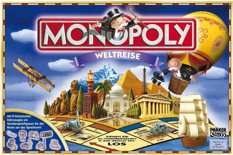 monopoly  Monopoly   Weltreise   Nostalgie oder zum Selbermachen ab 14,39€   Update!