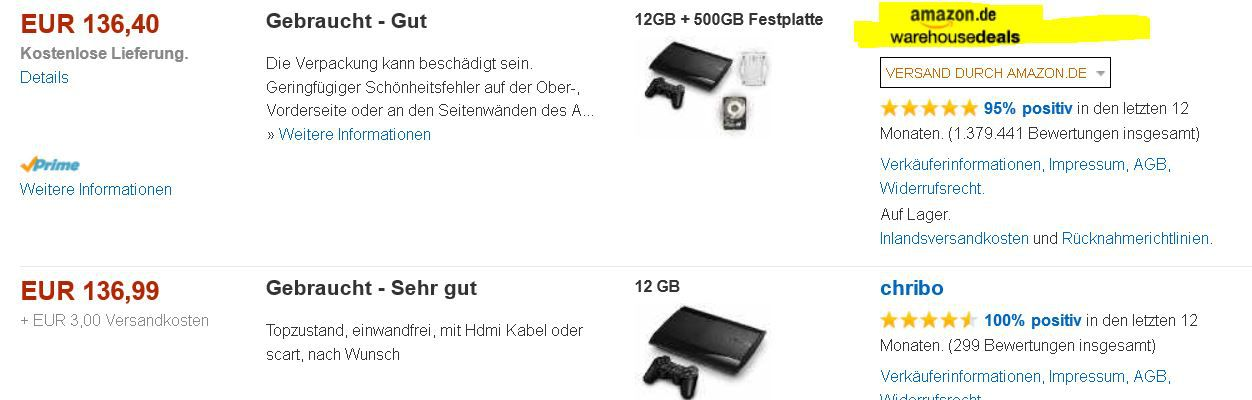 ps3 Sony PlayStation 3 Super Slim, mit 12GB + 500GB ab 136,40€