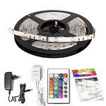 X4-Life, 5m RGB LED Streifen, mit FB für 14,99€