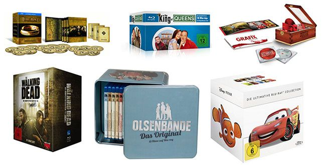 Blu ray & DVD Komplettboxen und Boxsets zum Sonderpreis (Herr der Ringe, Scrubs, James Bond, Walking Dead, Californication..)