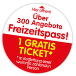 2-für-1 Tickets von Haribo für über 300 Freizeitangebote