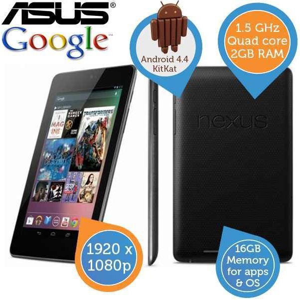 ASUS Google Nexus7   16GB Android 4.4 Tablet für 175,90€   Update
