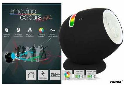 Ranex Mini Moving Colours Bluetooth Lautsprecher mit LED Farbwechsel für 30,90€