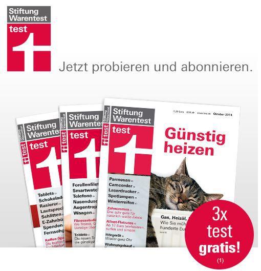 Kostenlos 3 Ausgaben Stiftung Warentest   Update!