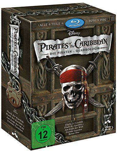 Pirates of the Caribbean: Die Piraten Quadrologie (5 Blu Rays) für 14,39€ (statt 20€)