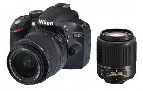 Nikon D3200 SLR Kamera Kit 18 55 mm + 55 200 mm ab 394€