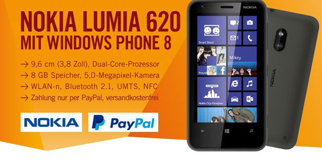 Nokia Lumia 620 Nokia Lumia 620    Windows 8 Smartphone für 79,99€