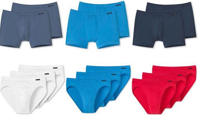Schiesser Herren 2er Pack Boxershorts oder 3er Pack Slips für je 16,95€
