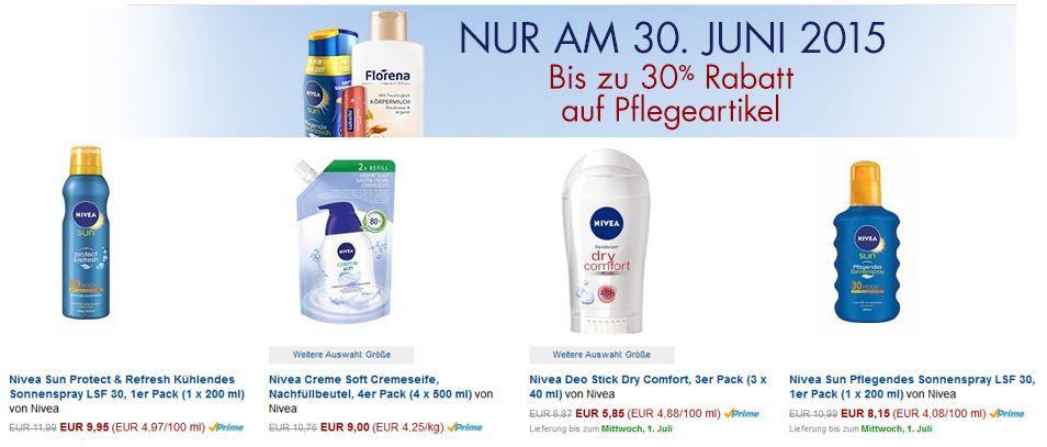 Nivea Amazon Angebot des Tages: bis zu  30% auf Nivea, Florena uvm.