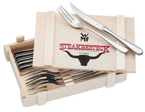 Steakbesteck WMF WMF aerodynamisches   Steakbesteck 12 teilig ab 25,92€   wieder da!