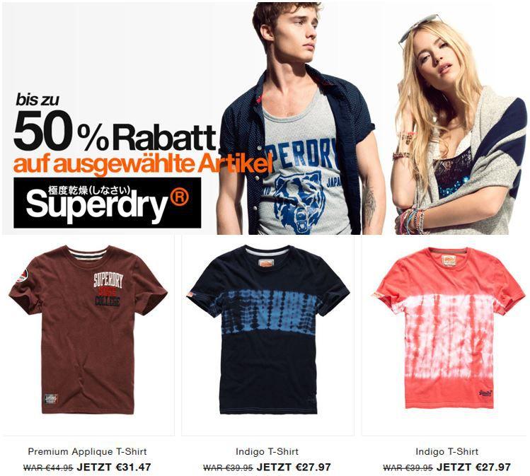 SUPERDRY Sale mit 50% Rabatt auf ausgewählte Kleidung   Update
