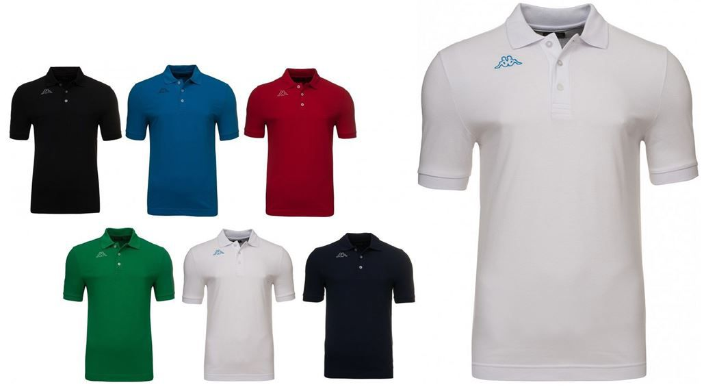 Kappa Herren Poloshirts (kurz  und langarm)  in verschiedenen Farben für je 10,99€