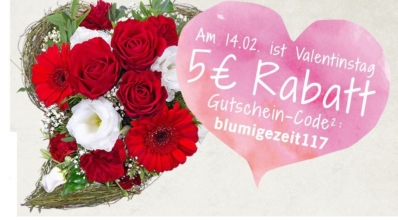 Lidl Blumen   Valentinsgrüsse mit 20% Gutscheincode + Versandkostenfrei