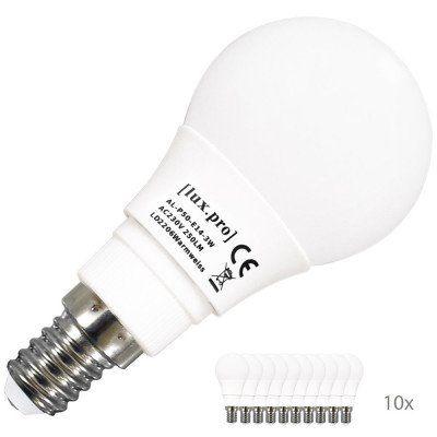 lux.pro   10er Pack 3W LED Energiesparleuchten E14 für je Set 10,79€