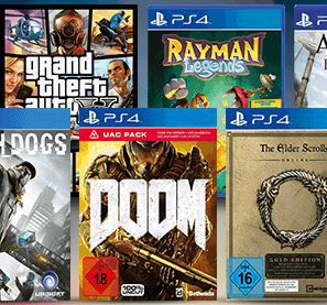 3 Games für 55€   z.B. (alle PS4) Watch Dogs + Fallout 4 + Doom (statt 68€)