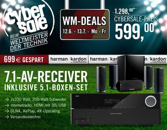 Harman Kardon AVR 270 Harman Kardon AVR 270 (7.1 Receiver) + Harman Kardon HKTS 16 (5.1 Lautsprechersystem) für 599€