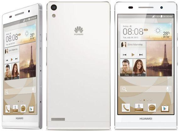 Huawei Ascend P6   Android 4.2 Smartphone mit 8MP Kamera für 139,90€