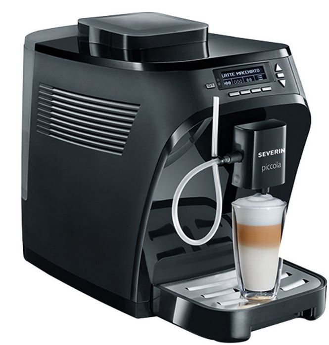 KV8055 Severin KV 8055 Piccola Premium   Kaffeevollautomat inkl. Thermo Milchbehälter für 275,74€
