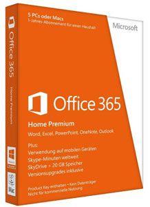 Microsoft Office 3651  Microsoft Office 365 Personal + McAfee LiveSafe 2015 für Mac/Win ab 29,90€
