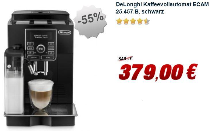 DeLonghi ECAM 25.457.B   Kaffeevollautomat (B Ware) für nur 379€