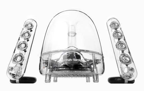 Harman Kardon SoundSticks III   2.1 Lautsprechersystem für 99,90€ (statt 172€)