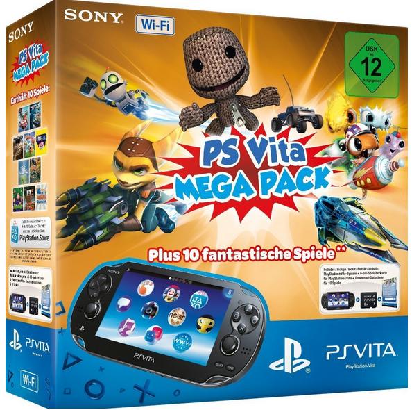 Sony PlayStation Vita + Mega Pack mit 10Spielen als WHD für 125,40€