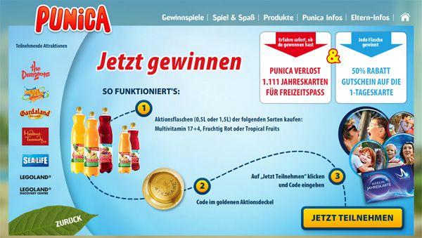50 Prozent Rabatt auf Tageskarten für Freizeitparks dank Punica 50% Rabatt auf Tageskarten für Freizeitparks dank Punica   u. a. Heide Park, Legoland oder Sea Life