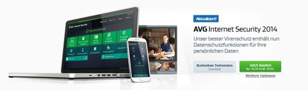 AVG Internet Security 2014 AVG Internet Security und Antivirus Pro 2014   1 Jahr kostenlos