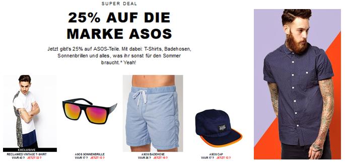 Asos 25% Rabatt auf ASOS Marken Kleidung