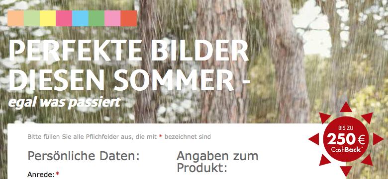 Bildschirmfoto 2014 05 14 um 13.27.50 Bis 250€ Cashback beim Kauf von Kameras, Objektiven, Camcordern & Druckern