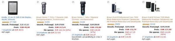 Gratis Kindle beim Kauf ausgewählter Braun Rasierer oder elektrischer Zahnbürsten