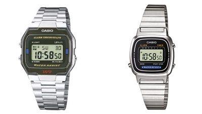 Casio Collection: digitale Edelstahl Armbanduhr ab 12,05€