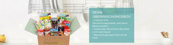 Degusto Box 50% Rabatt auf Degusta Box   Überraschungspaket für 7,49€
