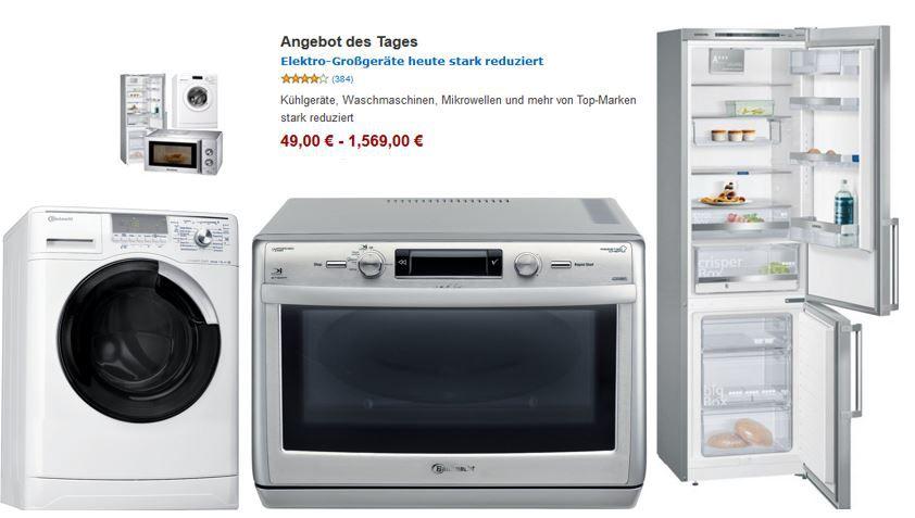 Elektro Großgeräte günstig als Amazon Tagesangebot   Update
