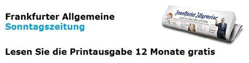 Kostenlos für Studenten: 1 Jahr Frankfurter Allgemeine Sonntagszeitung