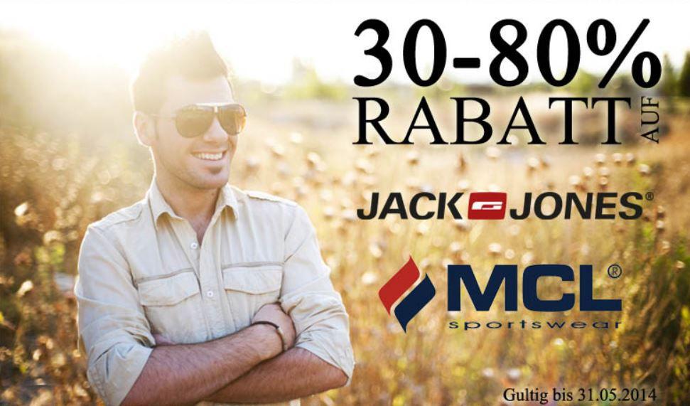 Jack & Jones und MCL mit 30 80% Rabatt   Schuhe schon ab 16,03€
