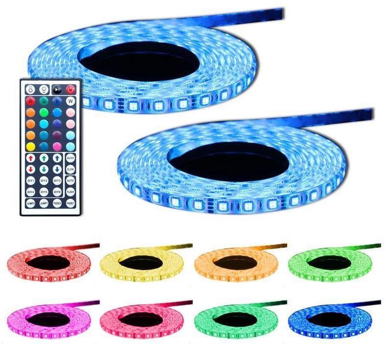 LED SMD flexible Lichtleiste   10m inkl. Netzteil und neue Fernbedienung nur 29,99€