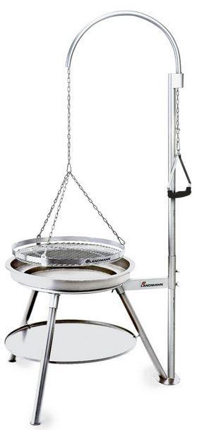 Landmann Geos    Dreibein Schwenkgrill aus Edelstahl für 74,95€