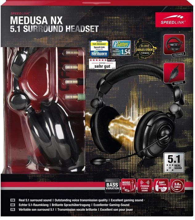 Speedlink MEDUSA NX 5.1   faltbares Sourround Headset für 22,22€ inkl. Versand