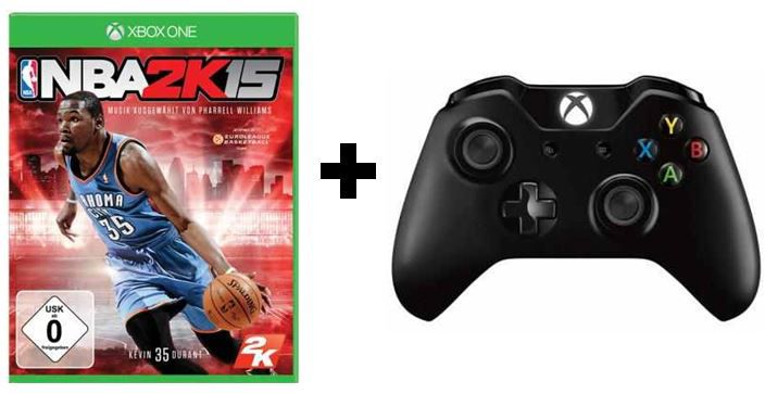 Xbox One Wireless Controller + XBOX ONE Game: NBA2K15 zusammen für 79€