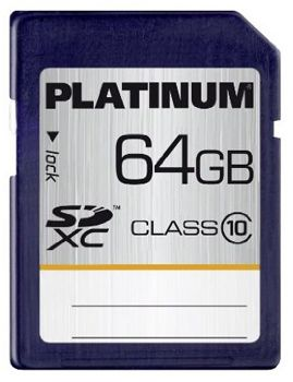 Platinum 64GB SDXC