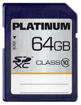 Platinum 64GB SDXC Class10 Speicherkarte für 16,90€ inkl. Versand